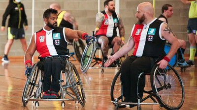 Saints stay top in wheelchair footy
